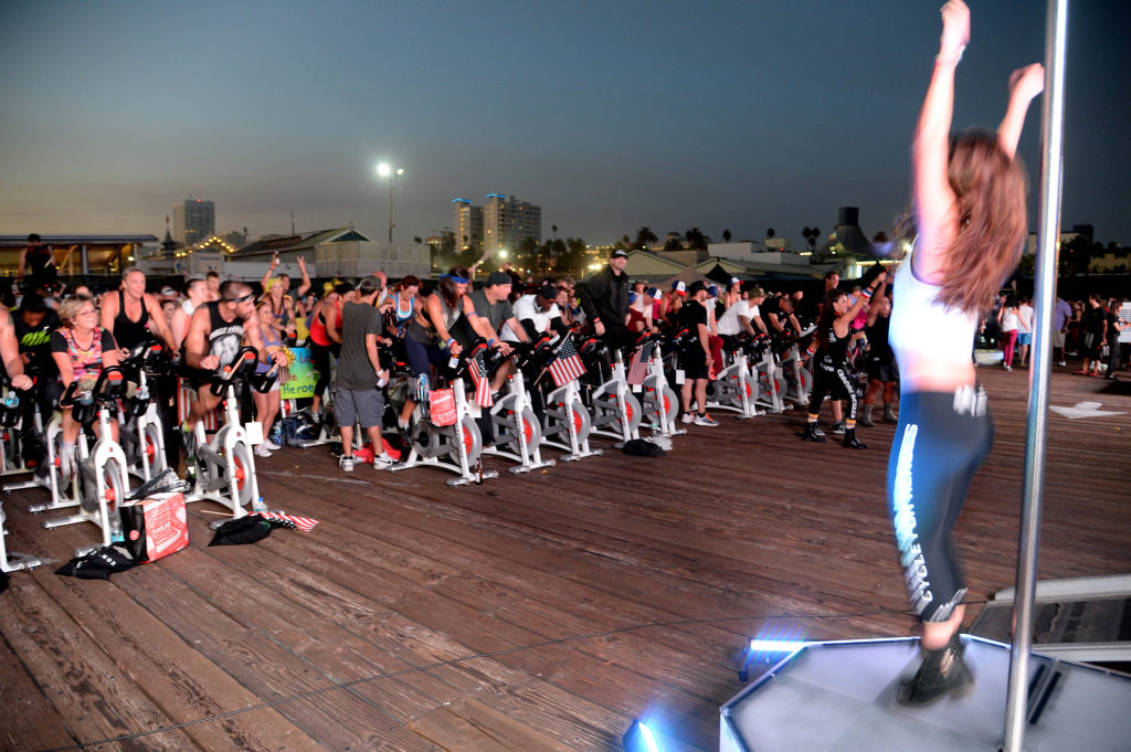 Cycle For Heroes At The Santa Monica Pier To Benefit The Heroes Project