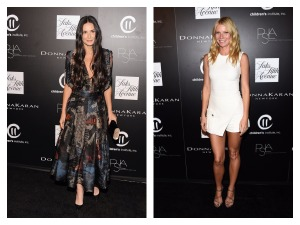 Demi Moore in Donna Karan and Gwyneth Paltrow in a white micro mini at the fifth annual PSLA Autumn Party